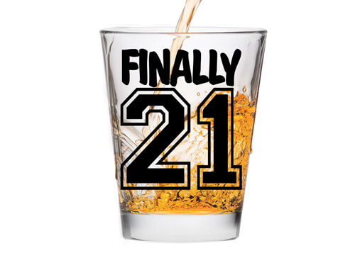 Lets Celebrate 21 Years Old With This Shot Glass