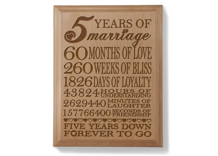 20 Unique Wood Anniversary Gifts For Her That She Never Forget